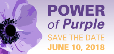 The Power of Purple Save the Date June 10, 2018